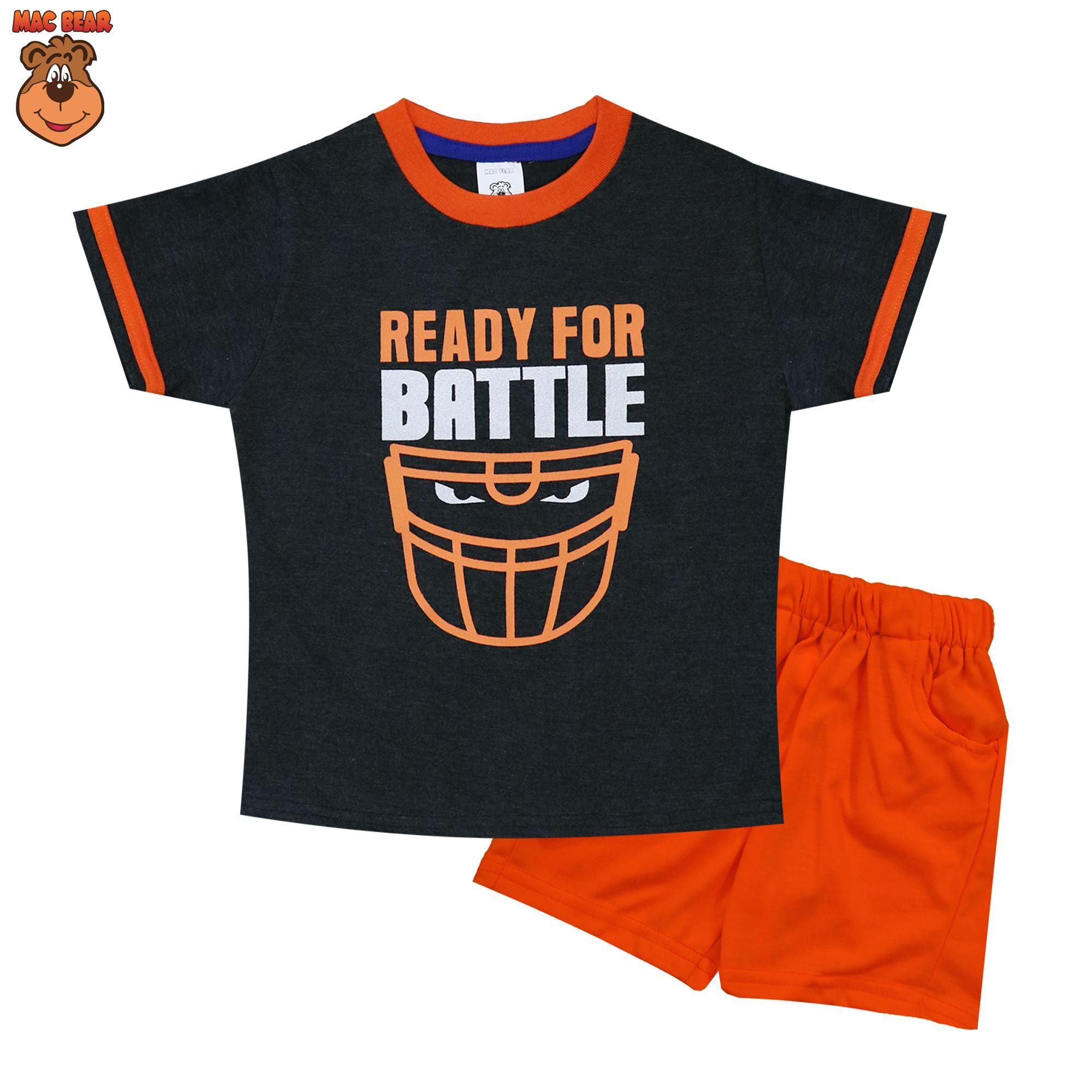 MacBear Kids Baju Anak Setelan Ready For Battle Sablon Foil Silver