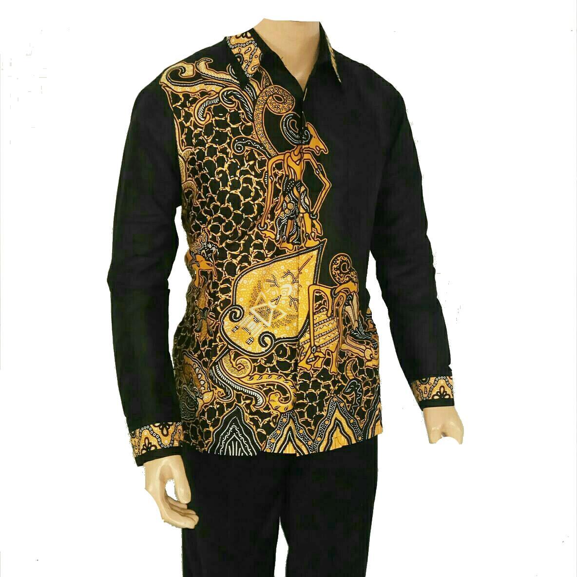 Jual Baju Batik Pria Baju Batik Modern Lengan Panjang Kemeja Batik Pria Lengan Panjang Pekalongan Hem Batik Motif Teratai