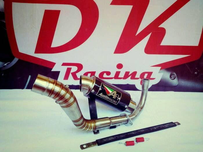 Knalpot Racing Vespa Primavera Austin Racing Carbon Series By Dk Racing Bekasi.