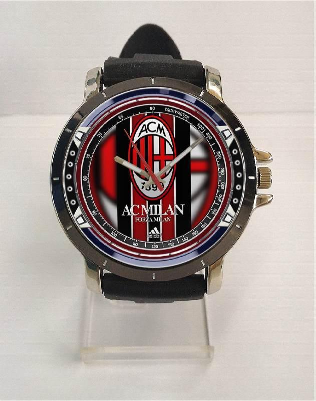 [ALBANYWARD] Jam Tangan Rubber Custom Pria Wanita Tema AC MILAN High Quality - Art 4 TERBARU