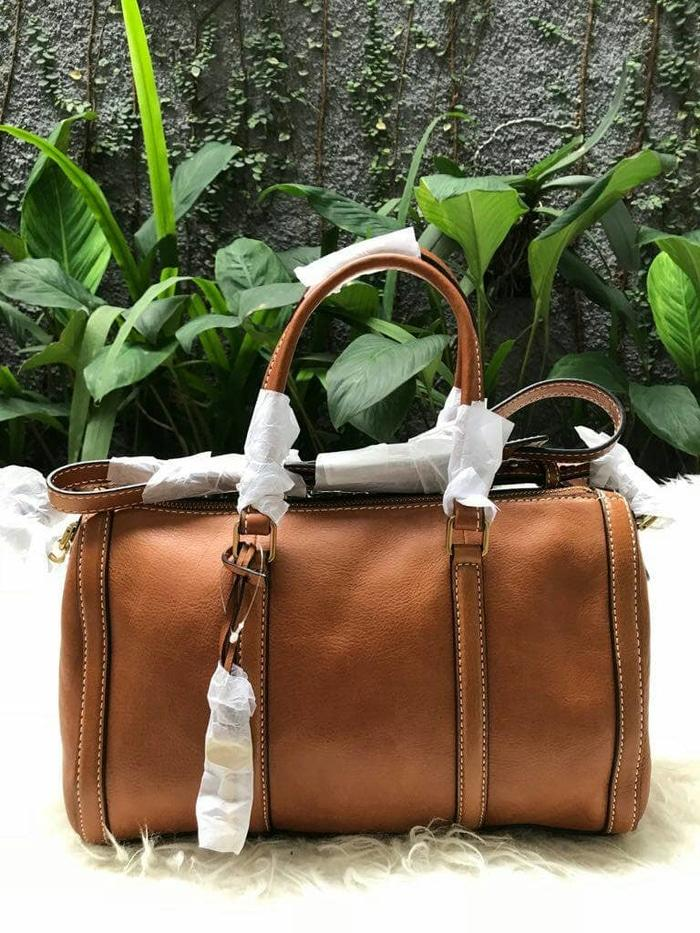 ... Fossil Kendall Satchel Brown Small Nwt ready stock finest selection 7a4ce 2c704