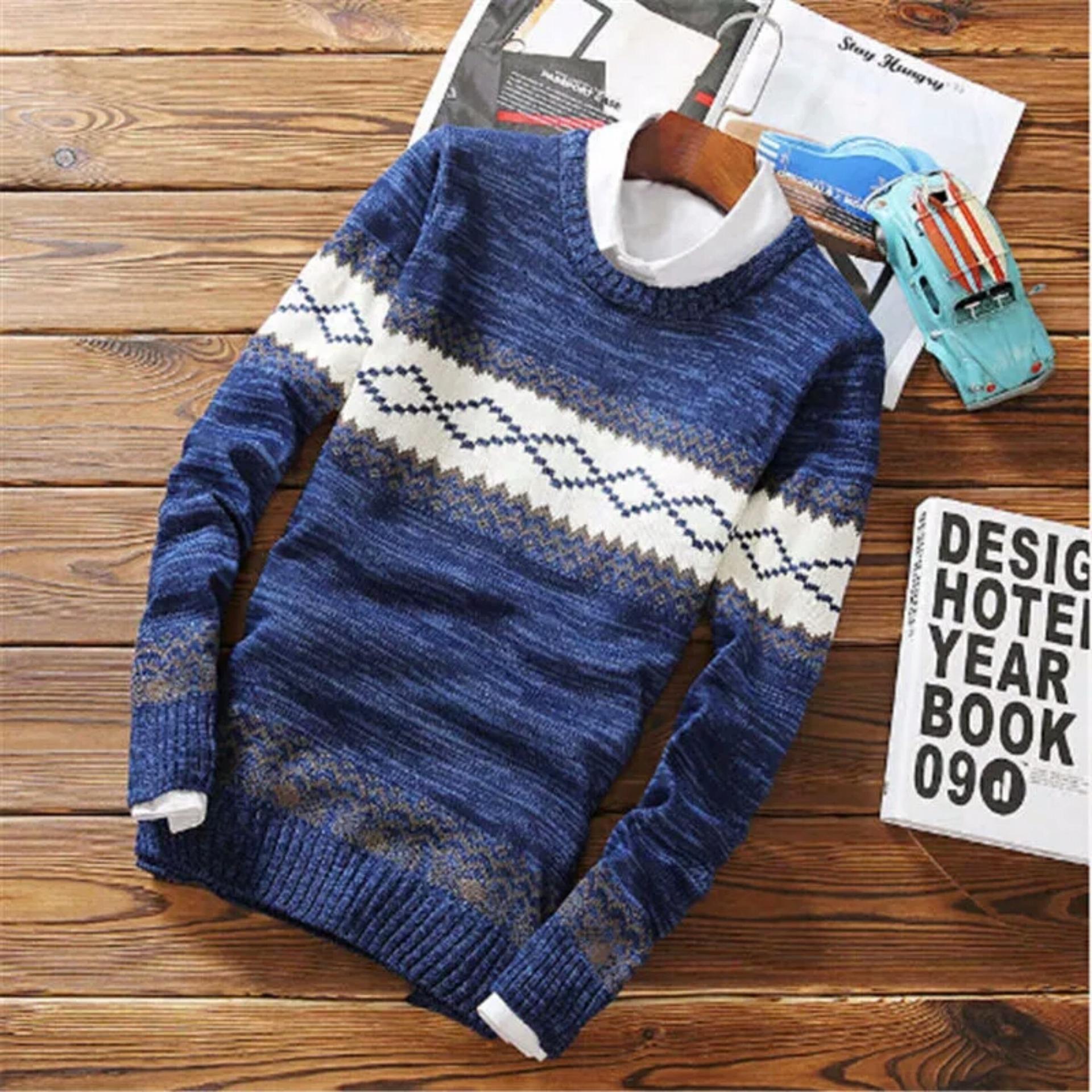 Buy Sell Cheapest Rajut Pria Murah Best Quality Product Deals Sweater Azuma Navy Wildan Twist Baju Atasan Remaja