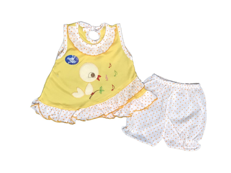 BAYIe - Setelan Baju bayi Perempuan motif BIRD PLANET KIDS usia 0-12 bulan /