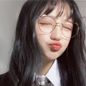 Price Checker Telinga Kucing Bingkai Kacamata Bundar Perempuan Versi Korea  Pasang Retro Gaya Harajuku Ulzzang Sangat 09dc0d917e