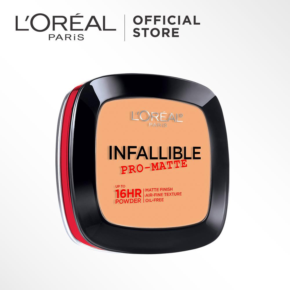 L'Oreal Paris Infallible Pro Matte Powder - 600 Golden beige by L'Oreal Paris Makeup   Loreal  Padat / Compact Powder Matte For Normal to Oily Skin / Kulit Berminyak Long Lasting Tahan Lama Flawless