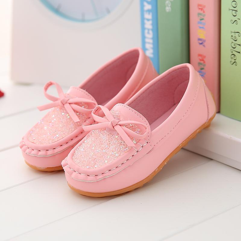 Sepatu anak perempuan Putri Gaya Korea sepatu kacang polong musim semi dan  musim gugur 2019 model b64d848f9b