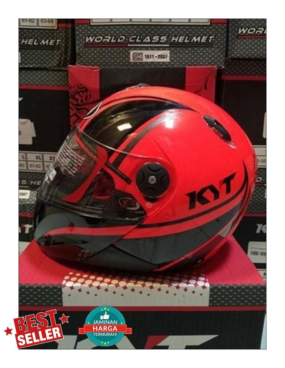 Helm KYT Xrocket X Rocket Solid Roket Fluo Full Original