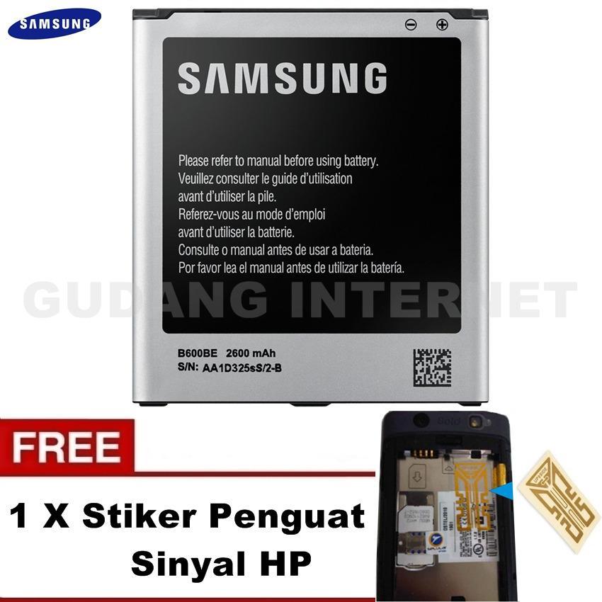 Samsung Baterai S4 GT-i9500 Original + FREE Stiker Penguat Sinyal HP