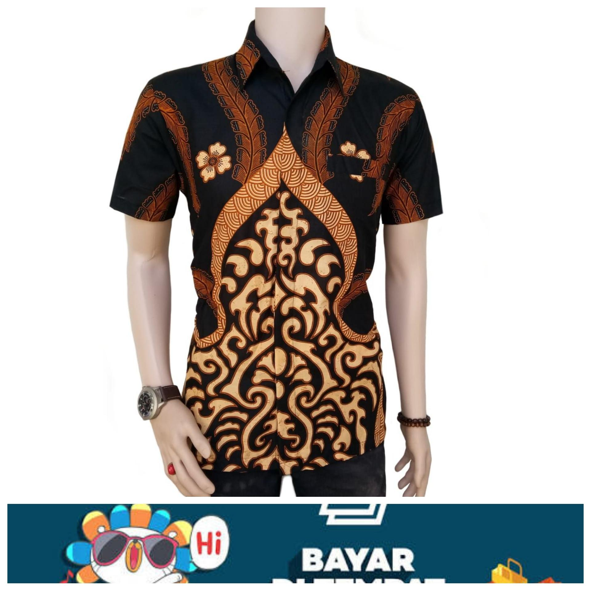 Dt Collection Kemeja Hem Batik Bagus Pria Lengan Pendek Original ... 0fc965480e