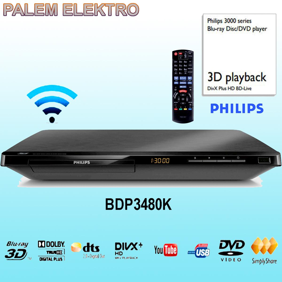Philips Bluray DVD 3D BDP3480K