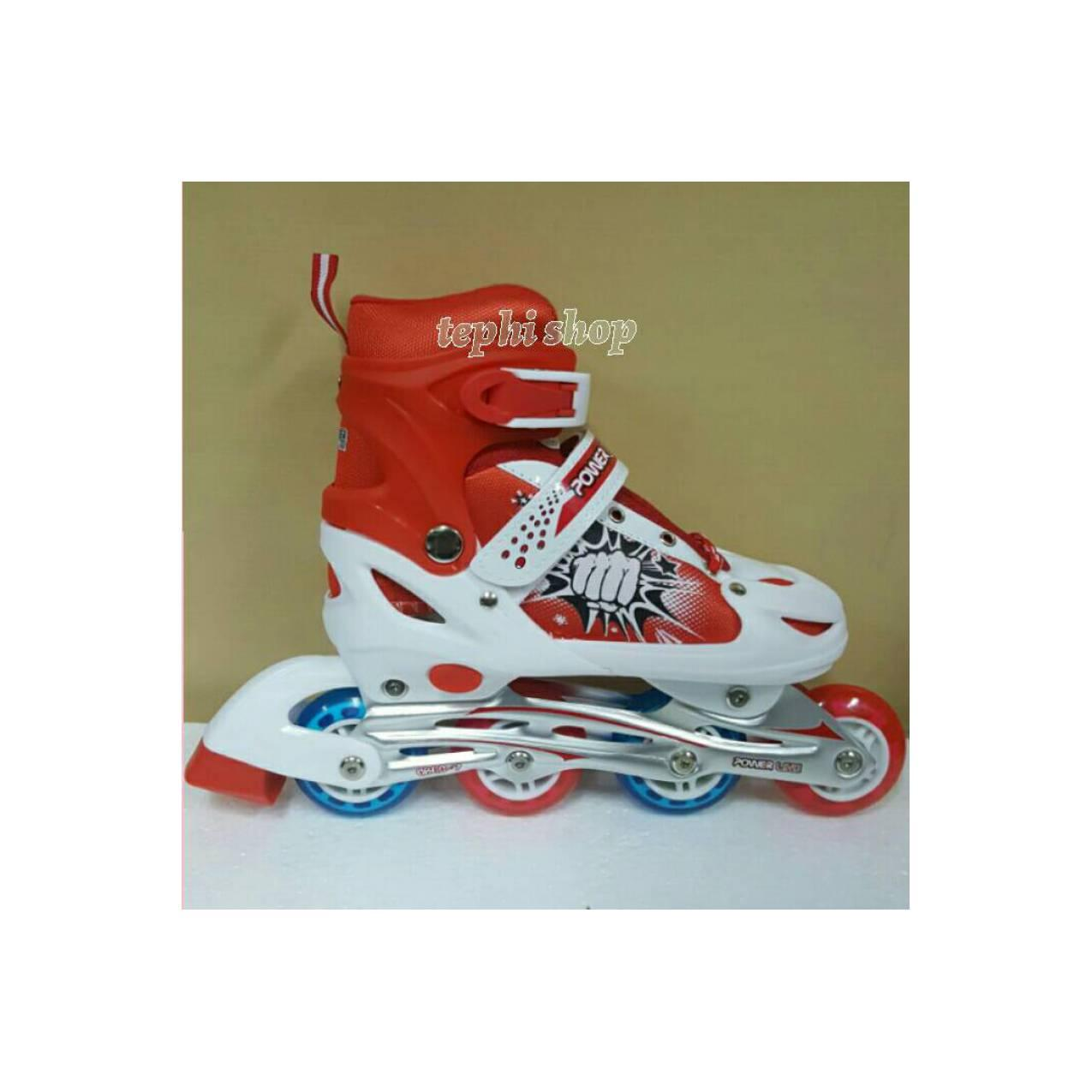 Sepatu Roda Anak Murah Inline Skate Power Line 6032J - MERAH