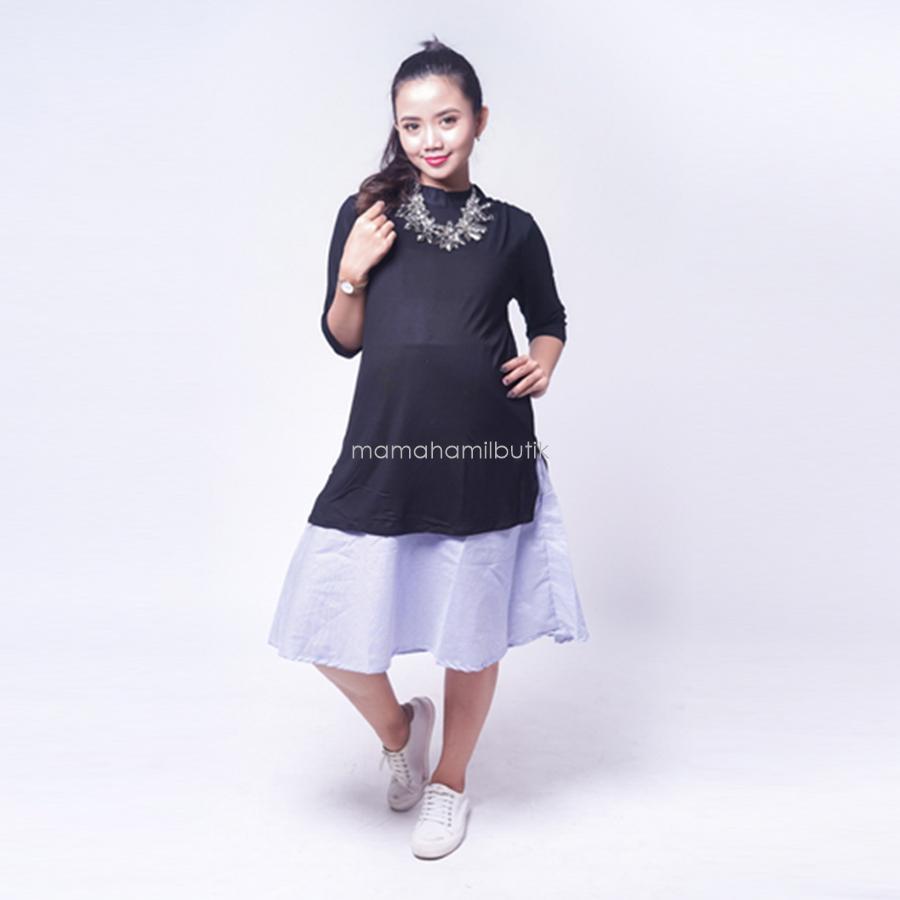 Ning Ayu Baju Hamil Dress Korea Stayle Cantik Modis - DRO 902 / Baju Menyusui Lengan Panjang / Baju Atasan Menyusui / Baju Menyusui Muslimah / Baju Muslim Wanita untuk Ibu Menyusui/ Baju Hamil Untuk Kerja / Baju Hamil Untuk Kerja Modis