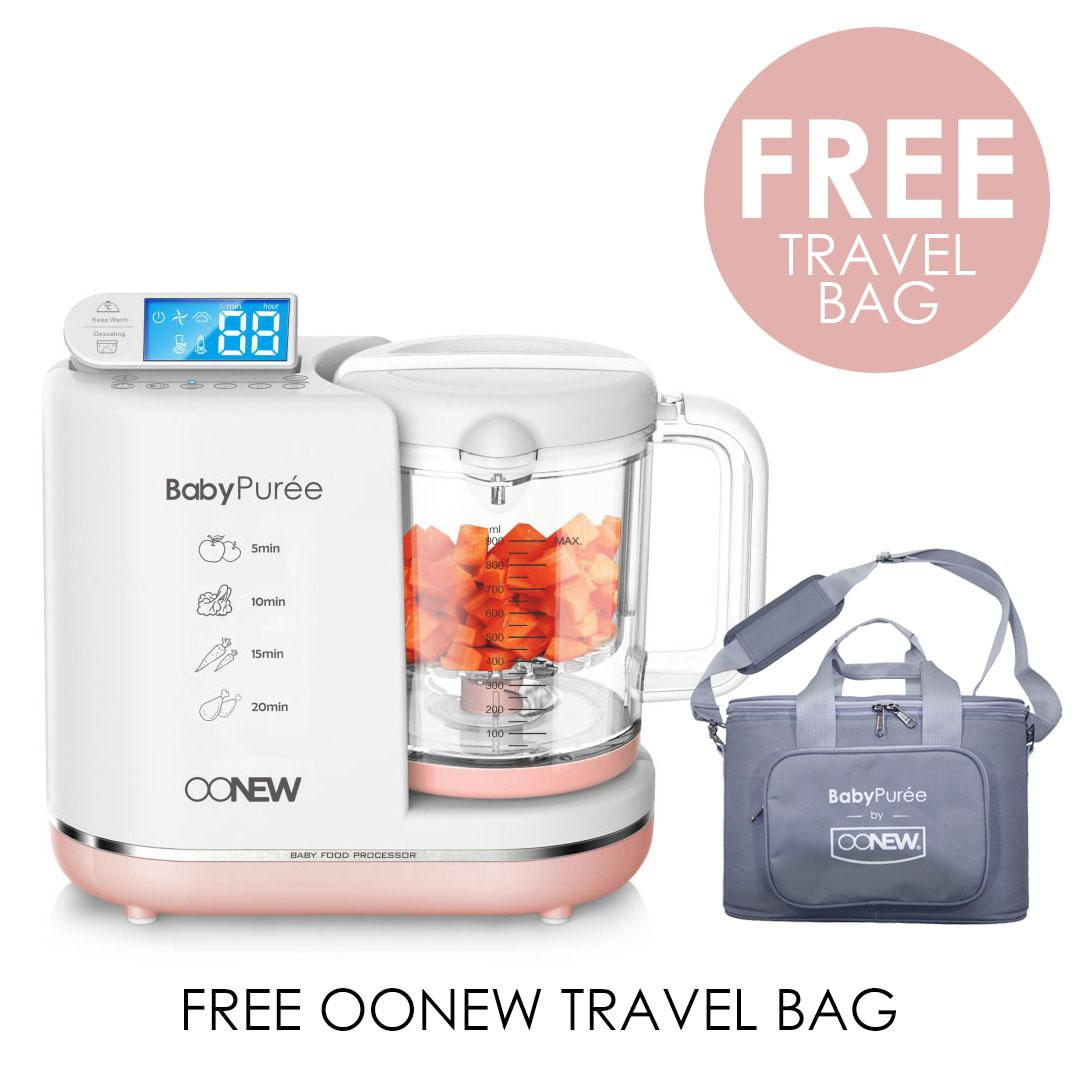 OONEW Baby Puree 6 in 1 Baby Food Processor  Pink Salmon