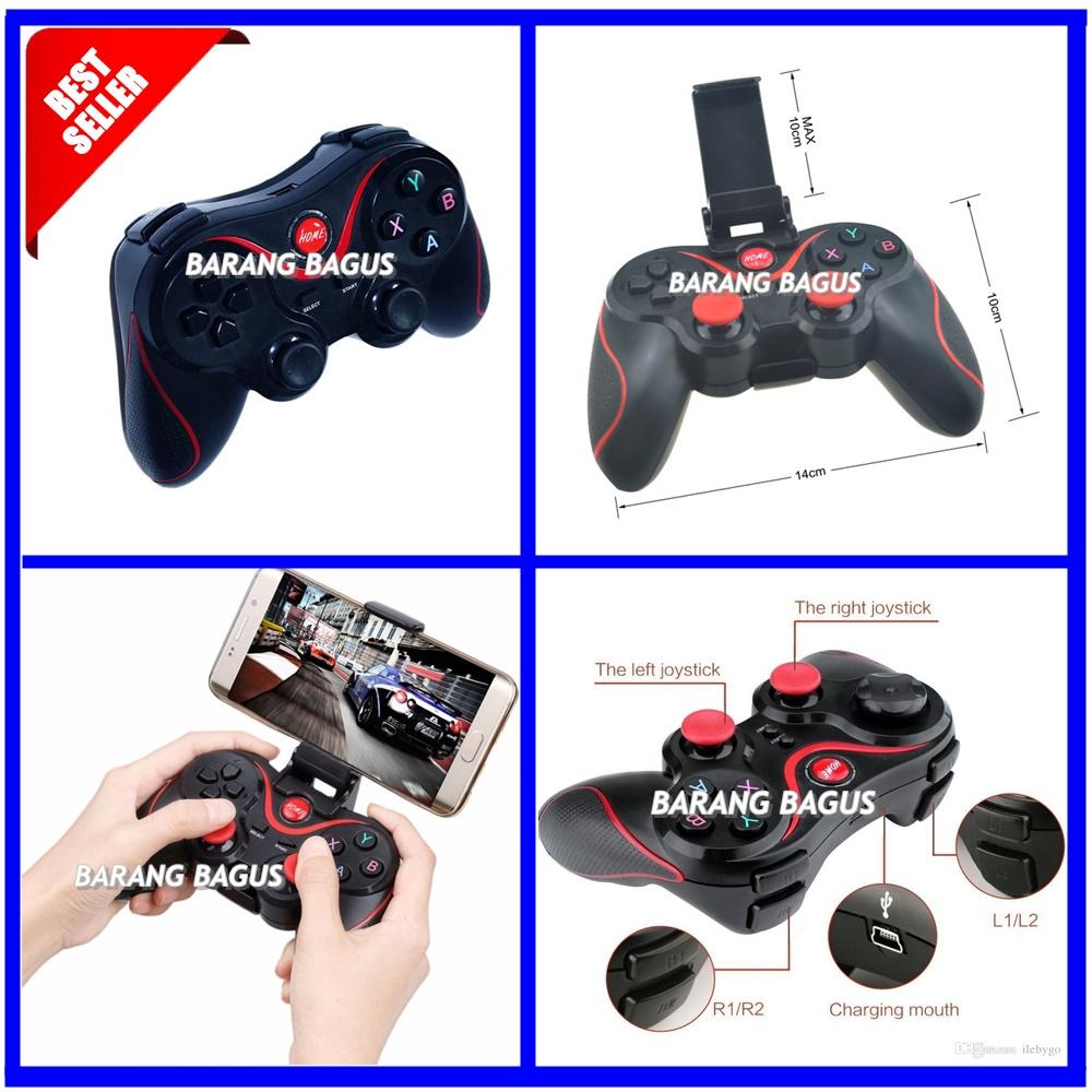 Universal Gamepad Bluetooth Terios T3 For All Smartphone + Holder HP [ barang bagus ]