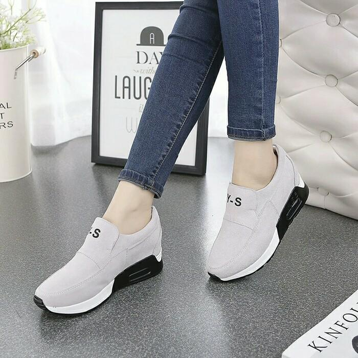 SLIPON AIRMAX (YS ) ABU / sepatu / sepatu wanita murah / boots / sepatu
