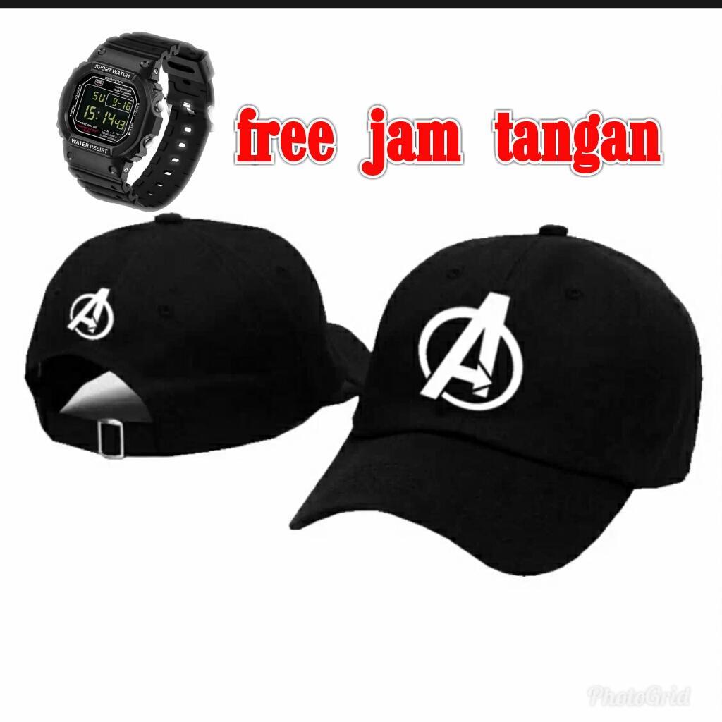 topi pria/wanita terbaru gratis jam tangan keren