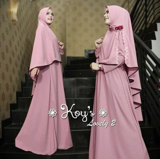 Snowshop Gamis Syari Dress Muslimah Lovely - Gaun / Busana / Jersey / Maxi / Muslim / Hijab / Stelan / Pasmina