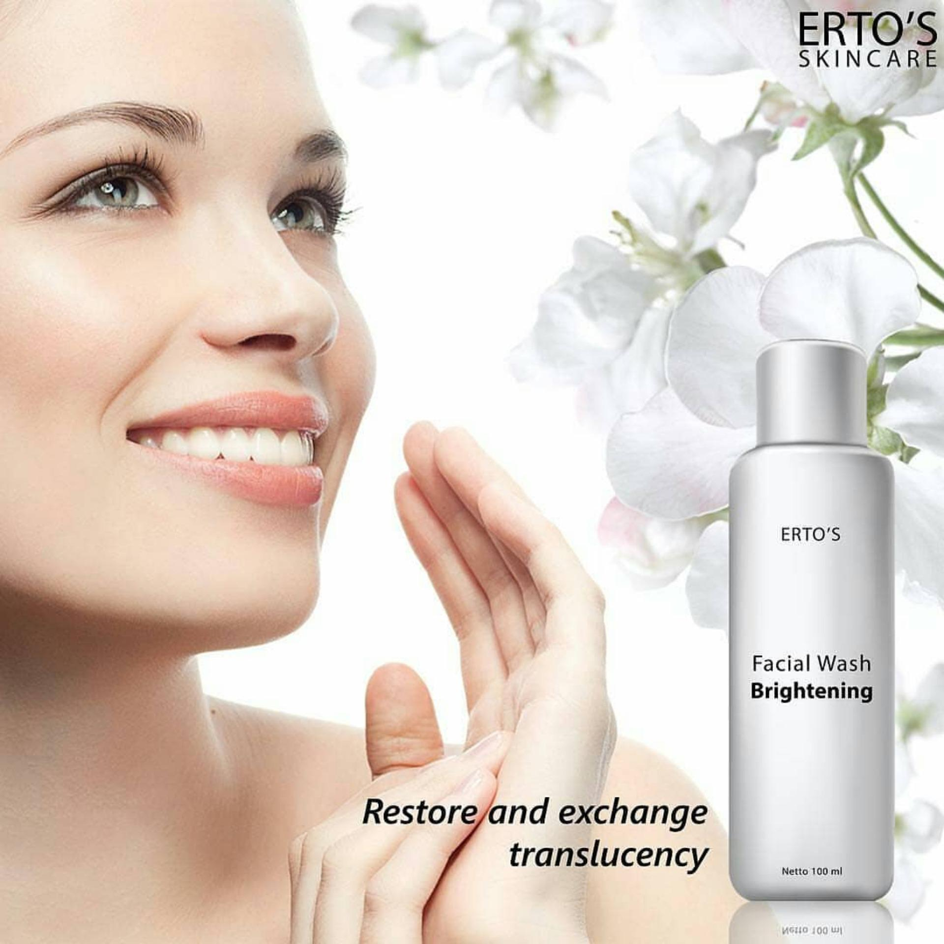 Ertos Facial Wash Brightening Bpom Original Buy Sell Cheapest Skincare Best Quality Product Deals Treatment Sabun Cuci Muka