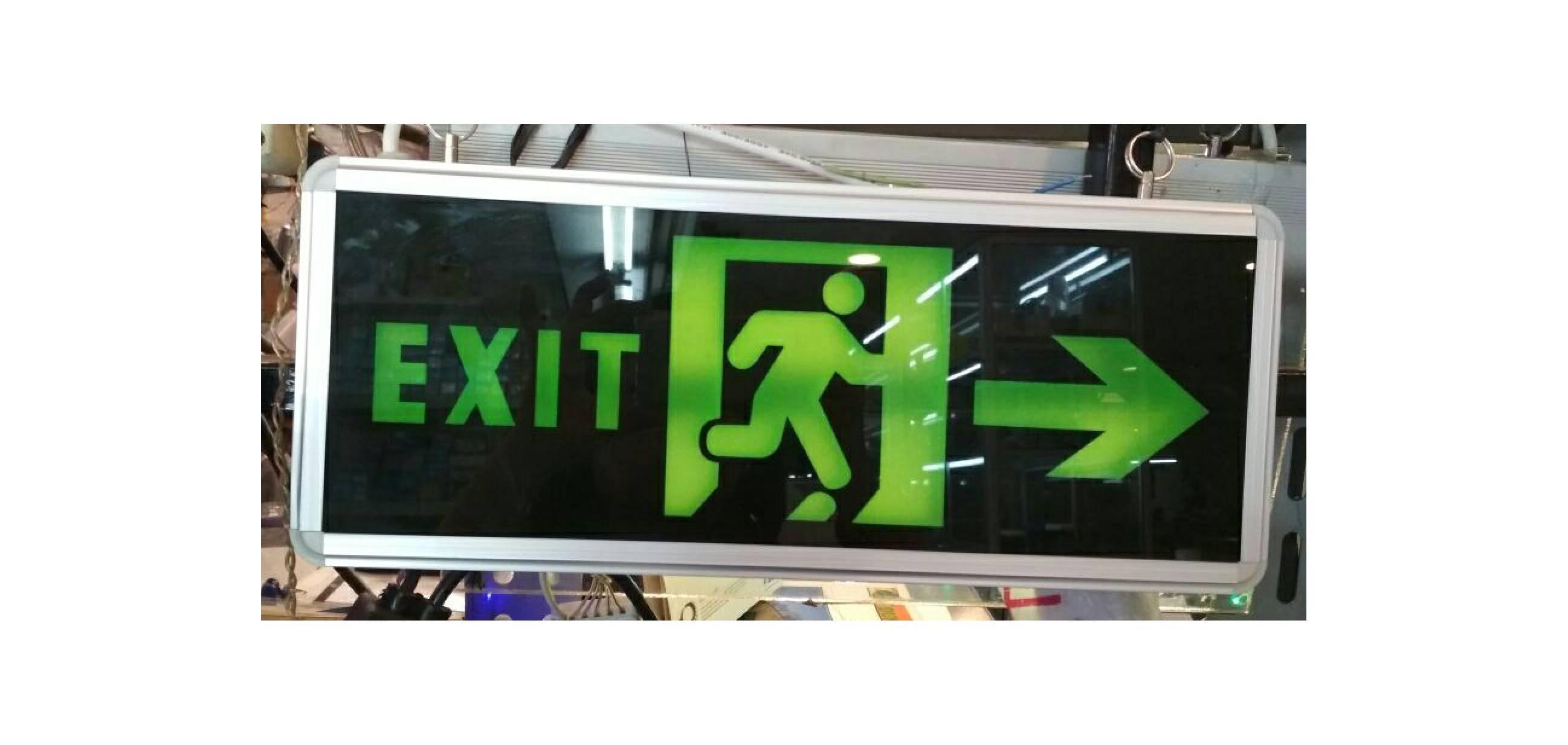 Lampu EXIT LED / Lampu Petunjuk Darurat / Emergency EXIT Lamp 2 sisi