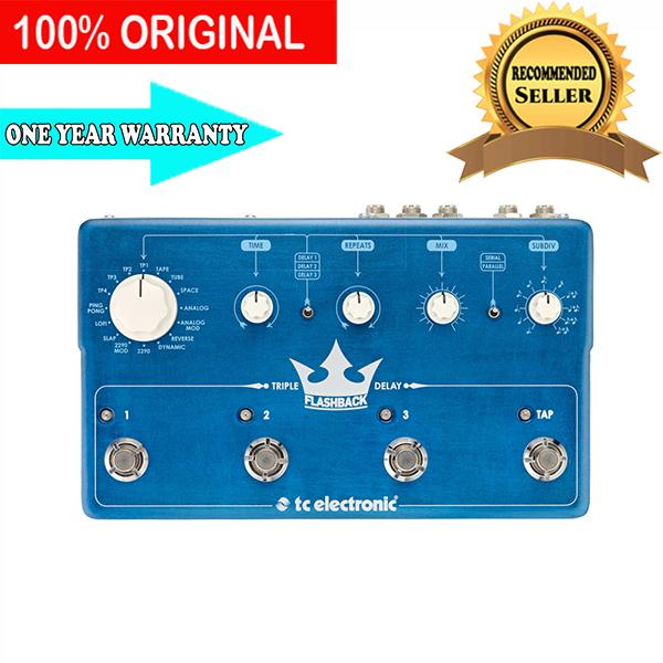 Pedal Efek Gitar TC Electronic Flashback Triple Delay