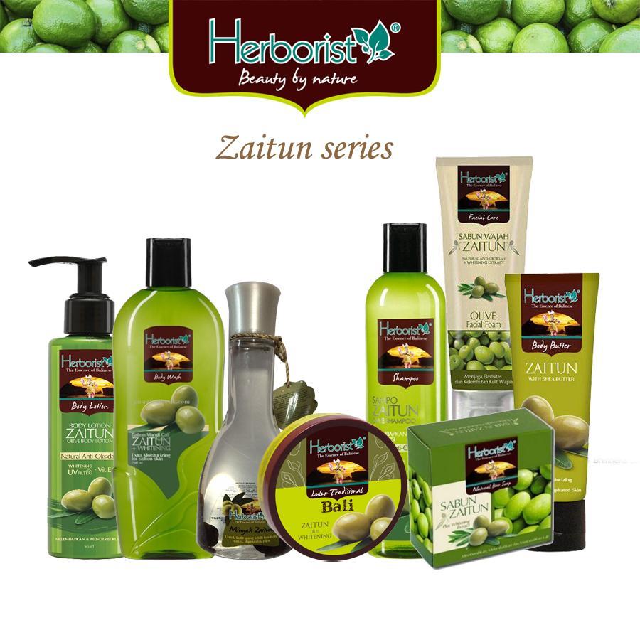 Herborist Paket Zaitun Komplit 8 Pcs / Shampo Zaitun / Body Wash Zaitun / Sabun Zaitun / Minyak Zaitun / Lulur Zaitun / Body Butter / Lulur Zaitun / Body Lotion - 8 Pcs By Hafshop