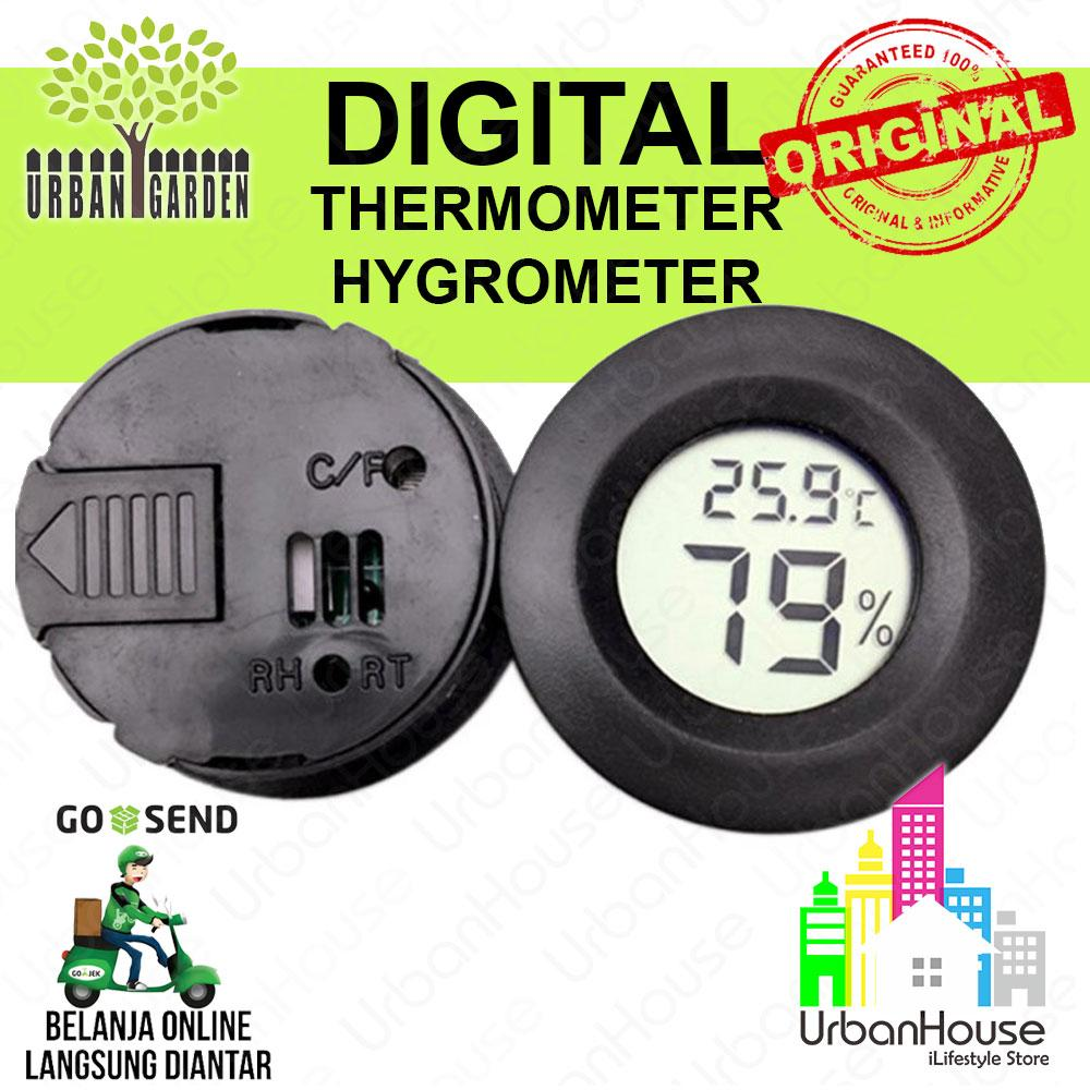 Urbangarden Lazada co id Source · UrbanGarden Mini Digital Thermometer Humidity meter Thermo Hygro Alat ukur suhu dan kelembaban ruangan Mini