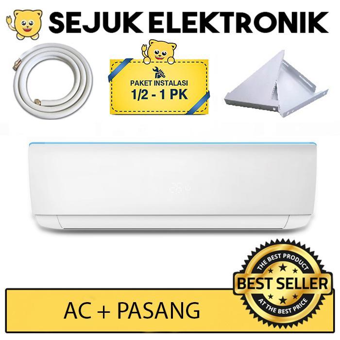AC Sharp AH-A5UCY + Pasang 3 meter / AH-A5UCY AC Split 1/2 PK Standard R32 (Khusus JAKARTA)