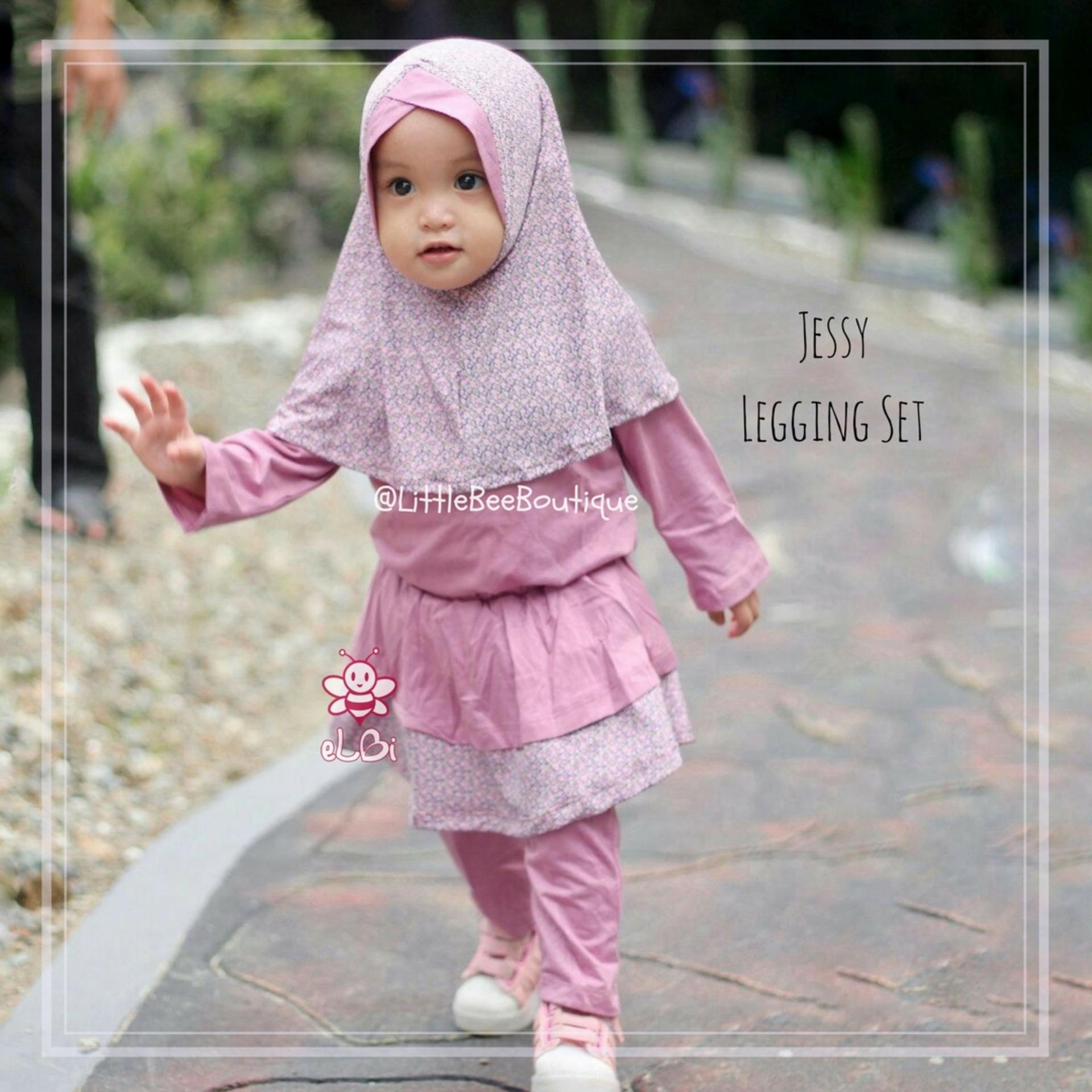 eLBi Jessy Legging Set Little Bee Boutique / Baju Muslim Anak Perempuan / Baju Bayi / Baju Anak / Baju Balita