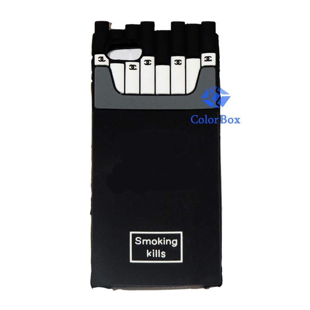 MR Soft Case 3D Rokok Iphone 6 Plus / iPhone 6G Plus / Iphone 6S Plus Ukuran 5.5 Inch Silicone 3D / Softcase Kartun / Case 4D Iphone 6G Plus / Jelly Case / Casing iPhone 6S Plus / Casing Unik - Rokok Hitam