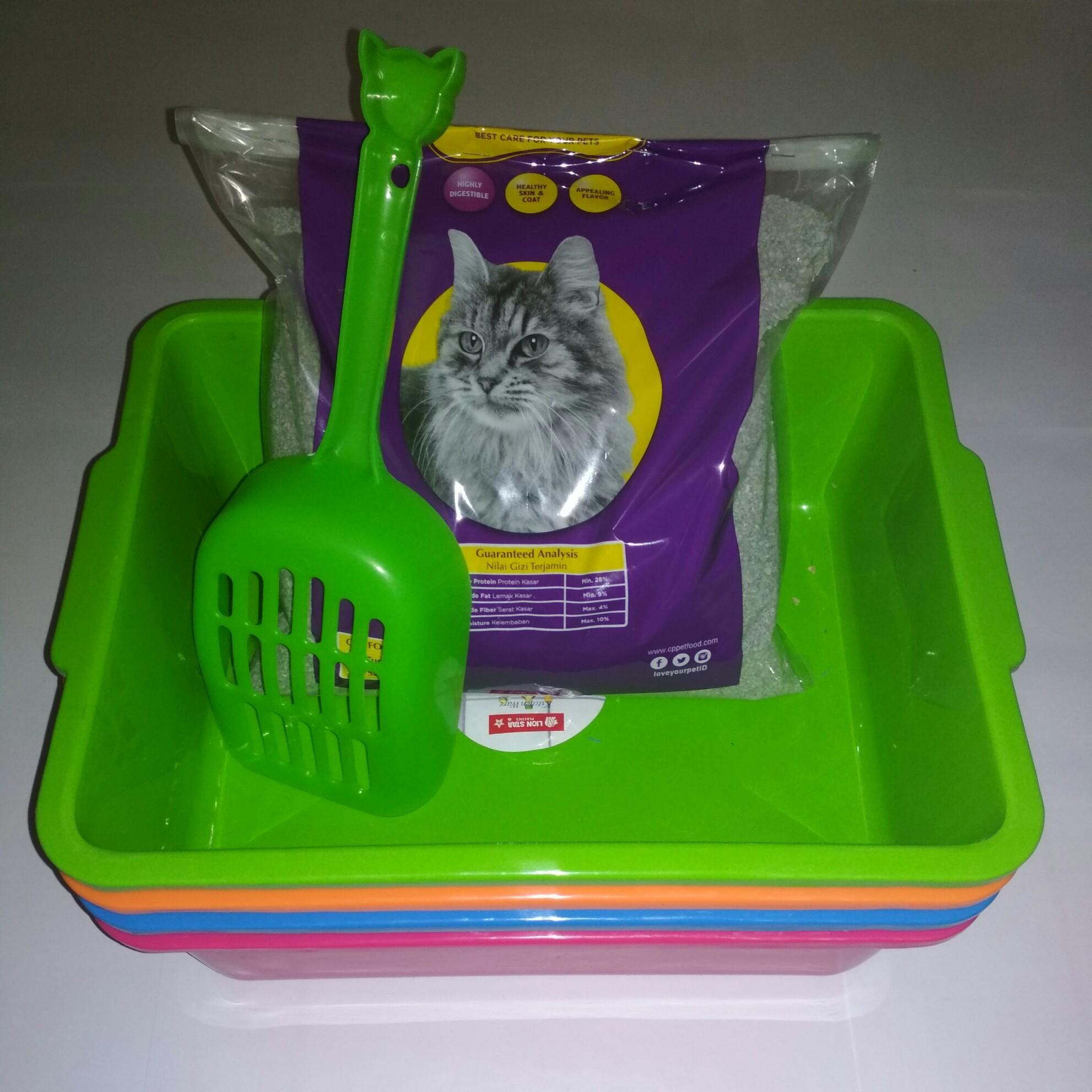 Box Tempat Pup Kucing Size M ... P 31 Cm L 24 Cm T 10 Cm Free Pasir Zeolit Kucing 2 Kg Dan Sekop/serokan Untuk Membuang Pup By Petstore Tangerang.