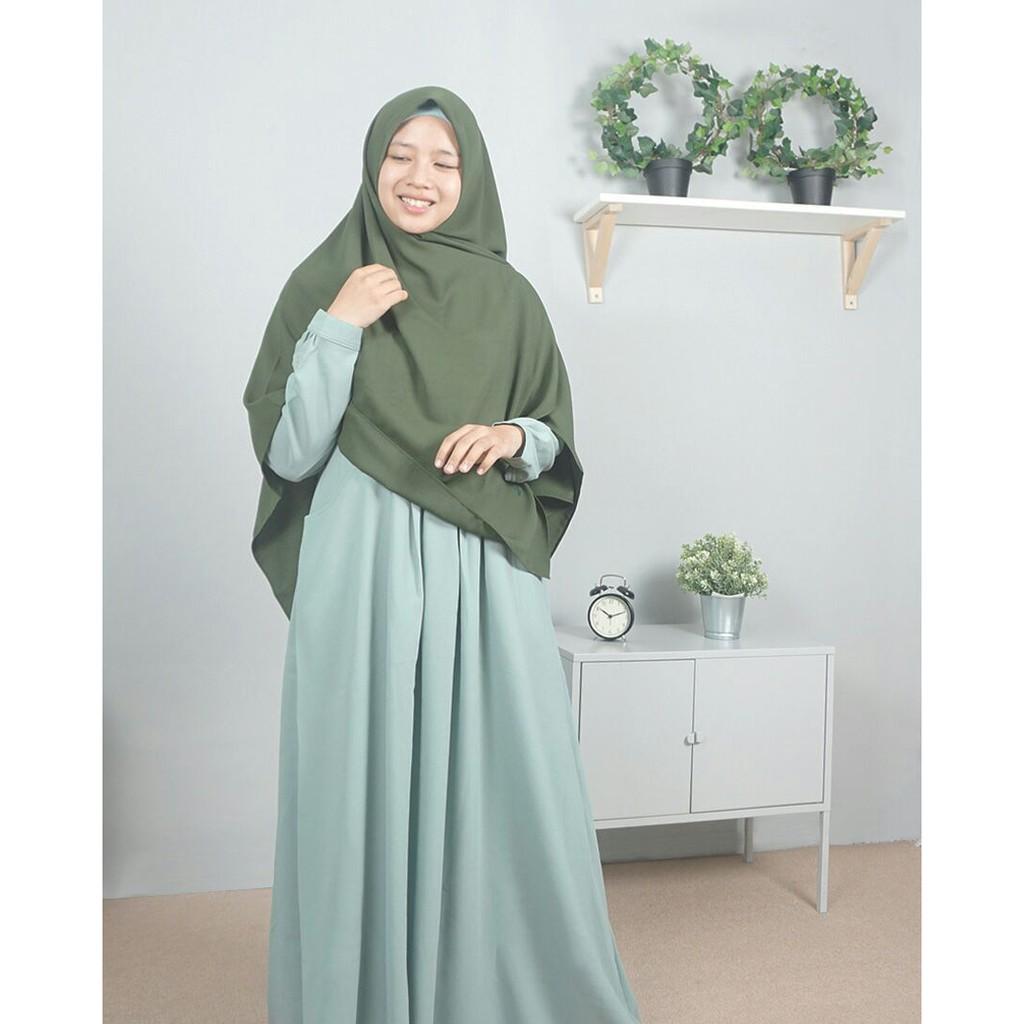 (TERBARU) Gamis Ayumi Hijab Alila (Periwinkle / XL)