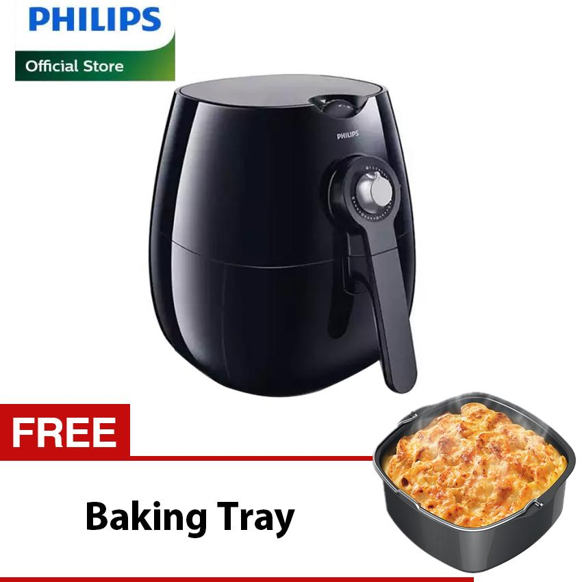Philips Air Fryer HD9220/20 Penggorengan Elektrik - Hitam Free BakingTray