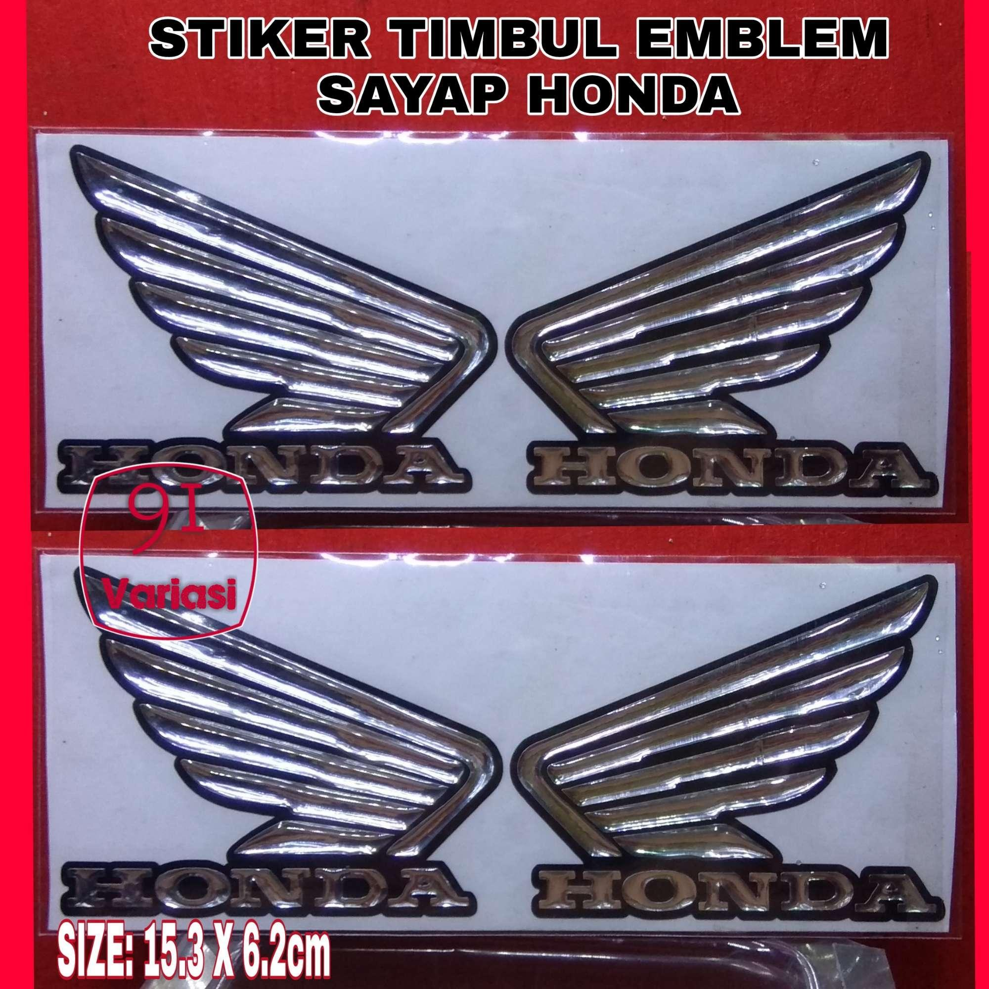 Aksesoris Stiker Logo Motor Skotlet Scotchlite Aneka Warna Timbul Emblem Sayap Honda Vario Beat Pcx Cbr Krom