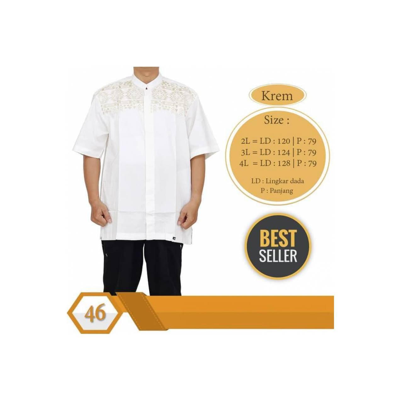 Best Baju Koko Albatar JUMBO XXL - XXXXL Lengan Pendek Katun Tebal