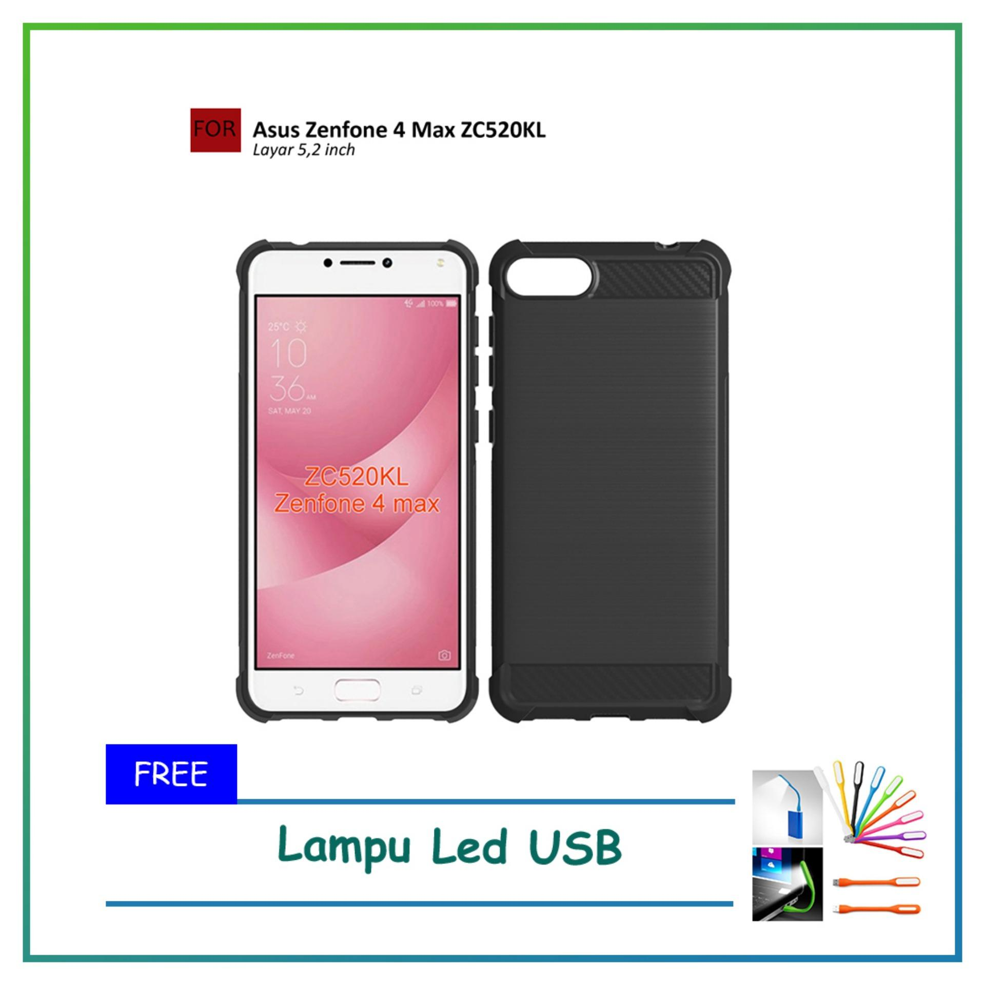 Renzanaacc Brushed Corner Protection Cushion Premium Carbon Shockproof TPU Case For ASUS Zenfone 4