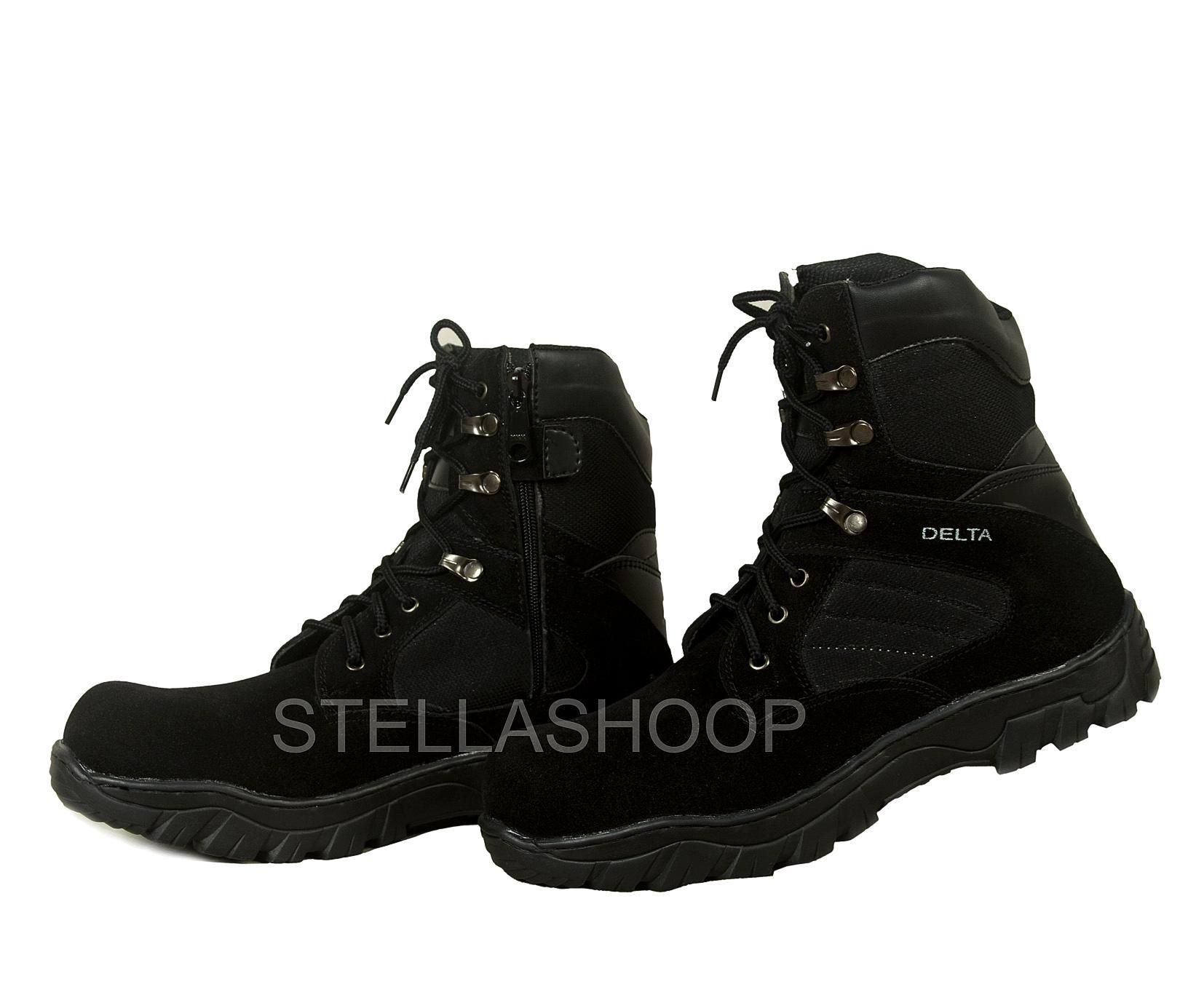 Sepatu boot pria Delta Cordura safety 8 inc krem   Hitam 640cfada27