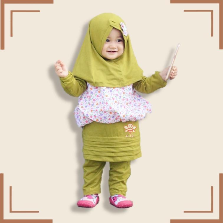 eLBi - Baju Muslim Anak Perempuan / Baju Muslim Balita Perempuan / Gamis Anak Perempuan / Uliya Series
