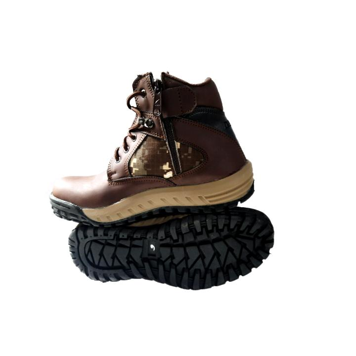 Sepatu delta force army safety boots berplat besi