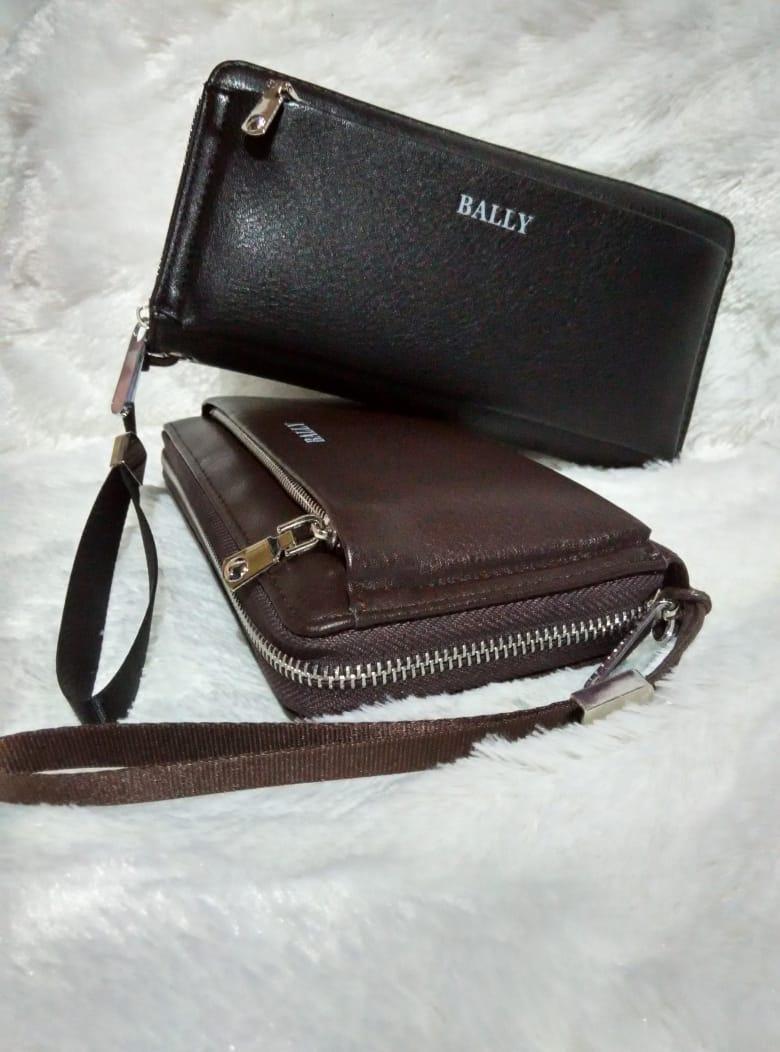 Theclover/New original dompet tangan BALLY/ZIPPER CLUTCH PRIA DAN JUGA WANITA