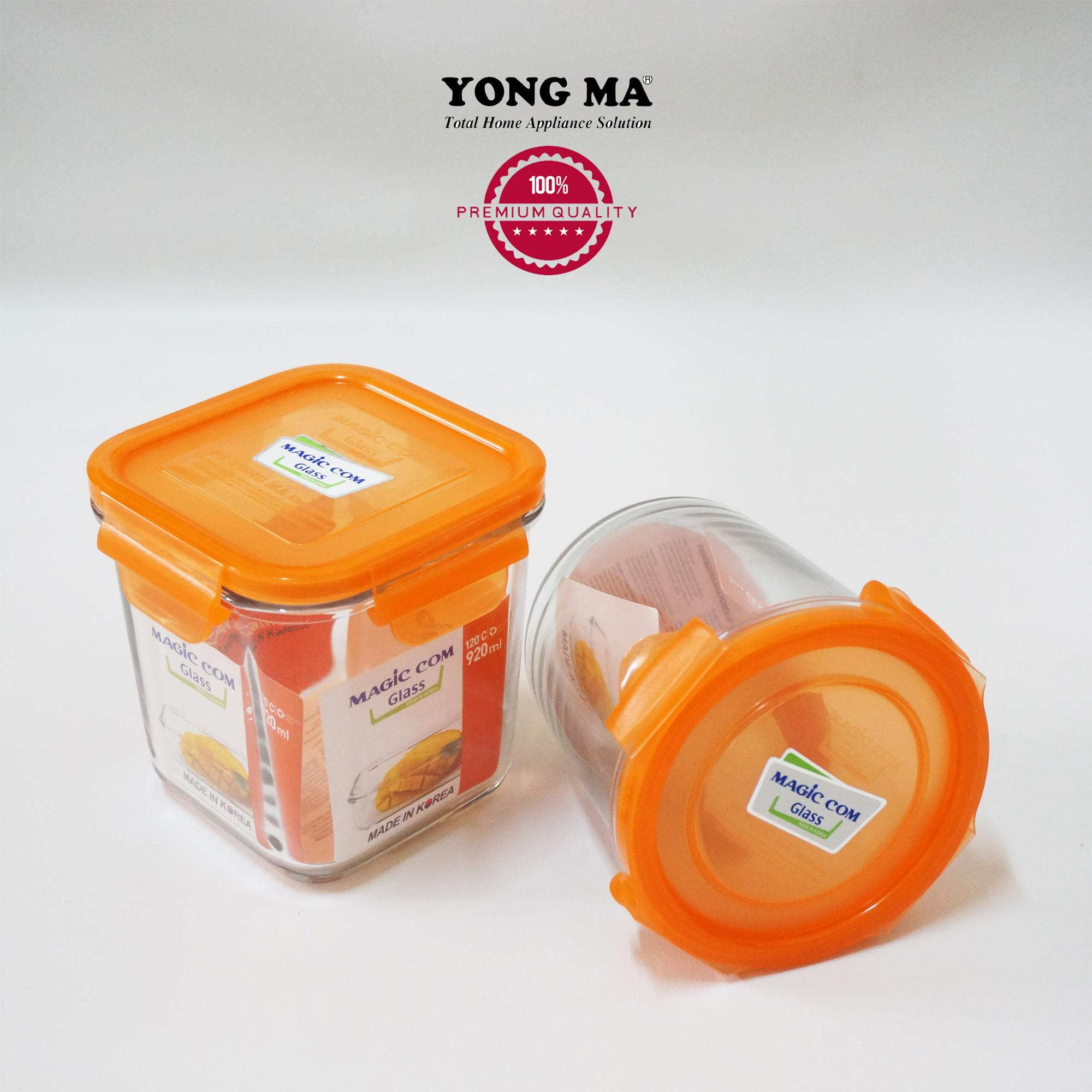 TOPLES GLASS MAGIC COM YMG753CI FOR MICROWAVE MADE IN KOREA ( 2 PCS )