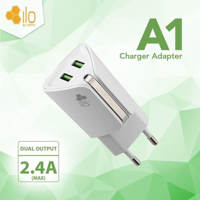 Hippo ILO A1 Adaptor Charger Dual Output 2.4A Value Pack