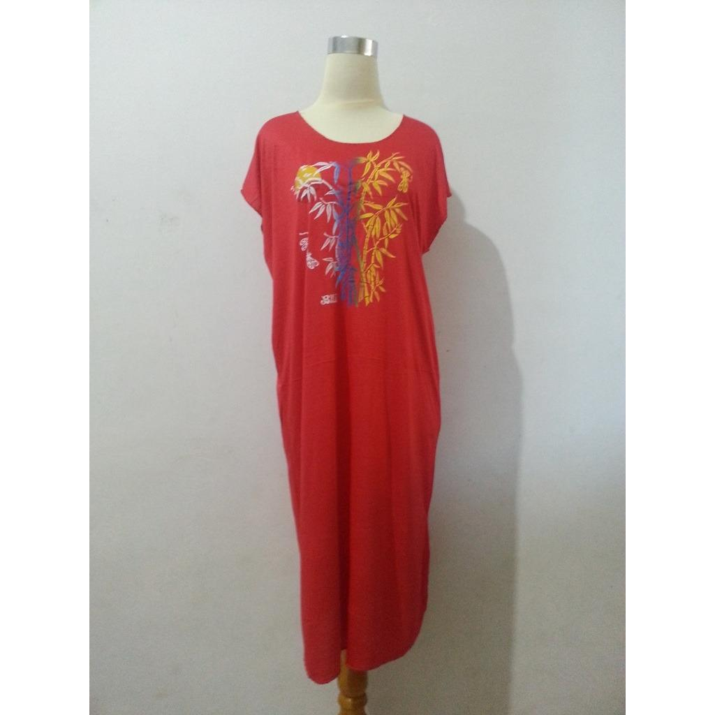 Baju Daster Bambu Bali Pjg Merah Dgkr