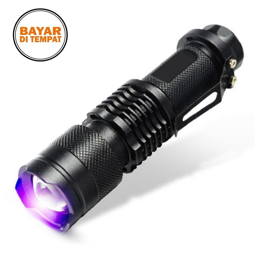 Rimas Senter LED UV 395Nm - Black / Hitam Sinar Senter Lede Ultra Violet Untuk Mengecek Uang Palsu Berkualitas