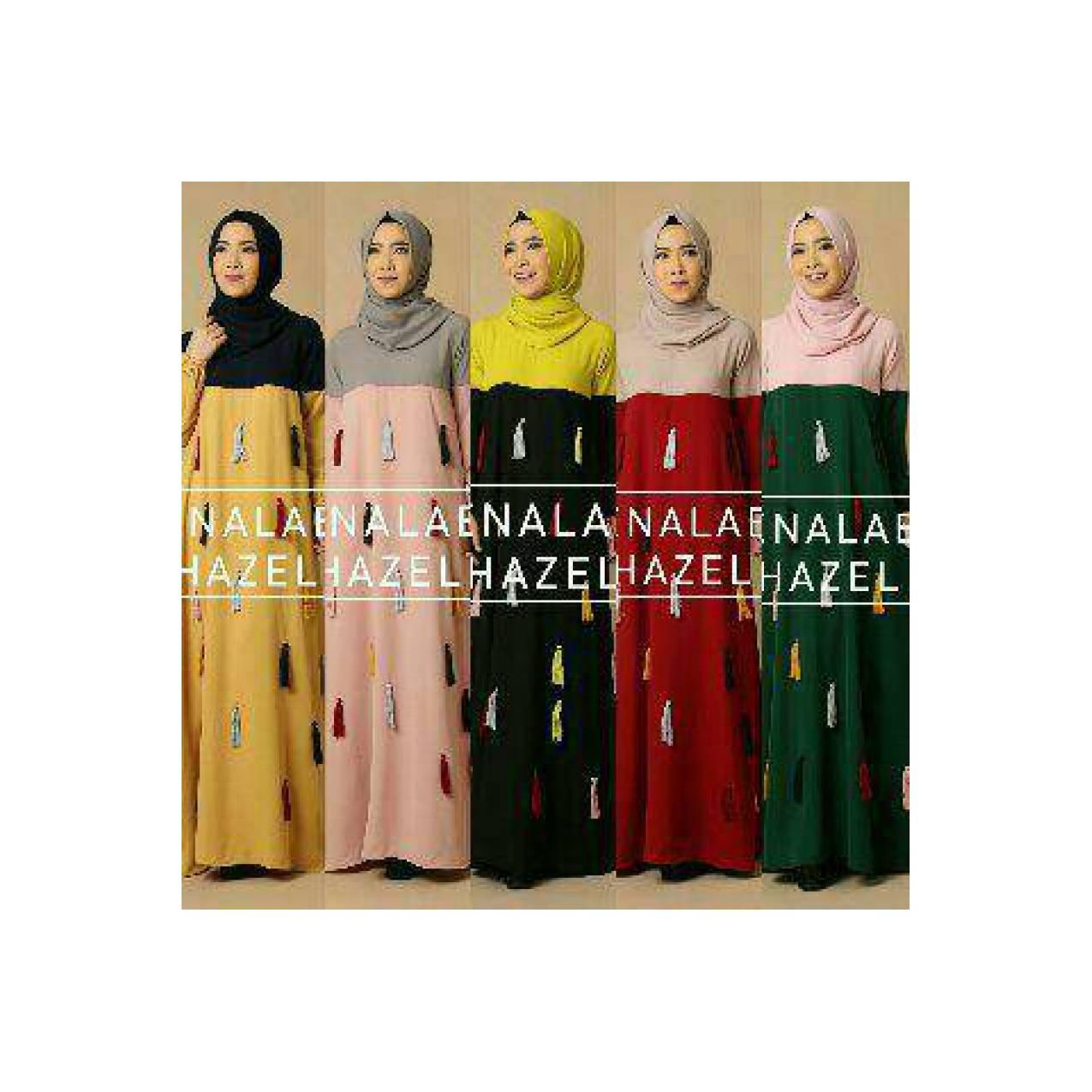 hazel by queenalabels (gamis/dress/busana muslim/baju wanita)