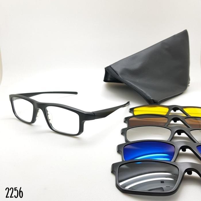 DISKON Kacamata Oakley Clip On 5 lensa 2256 TERMURAH