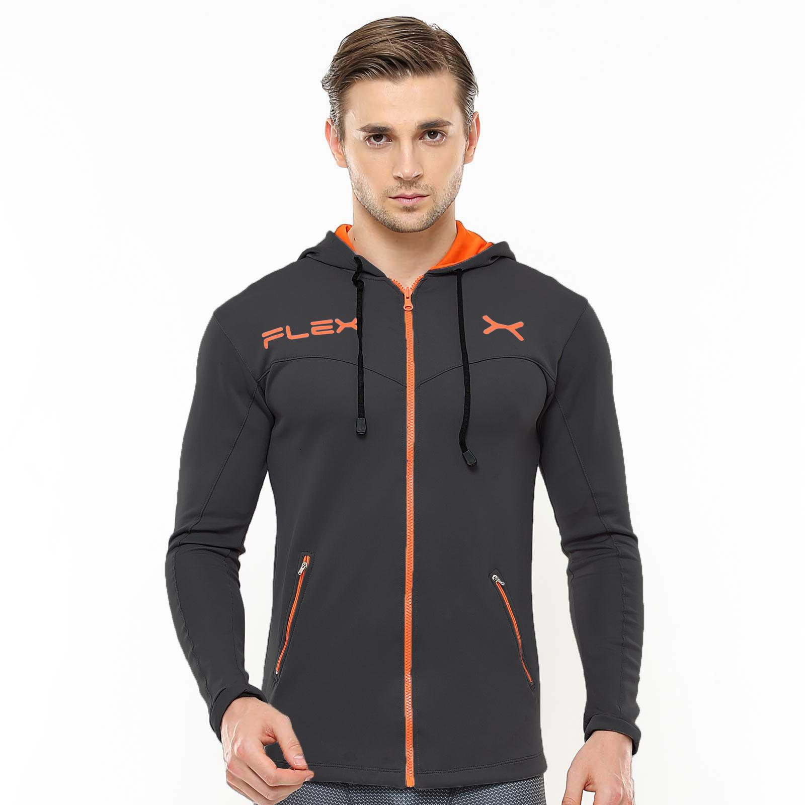 Jaket Olahraga Hoodie FJS-002 Durable Sport Intensive  Gym Fitness Jogging Lari baa44eab08