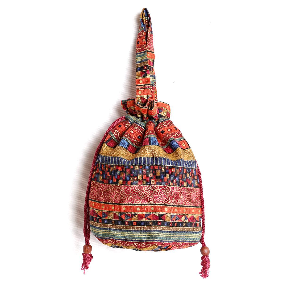 Sastra Tas Tenteng Selubung Bahu dengan Satu Tali Selempang Miring Dompet Koin Tas Kecil Tas Kain