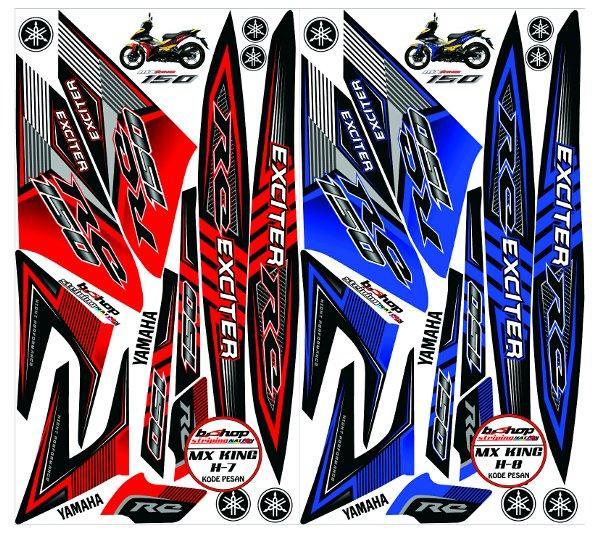 STIKER STRIPING MX KING 150 STICKER LIS VARIASI MOTOR YAMAHA KODE H7-8