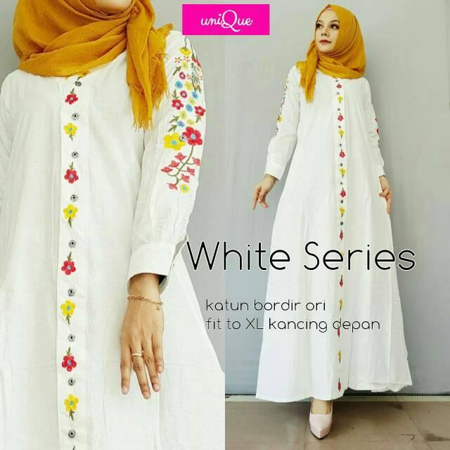 WHITE SERIES FIOLA RENATA AUDIA ZALORA SAUNA SASYA MAXI LONG DRESS MURAH WANITA GAMIS BAJU MUSLIM (RED)