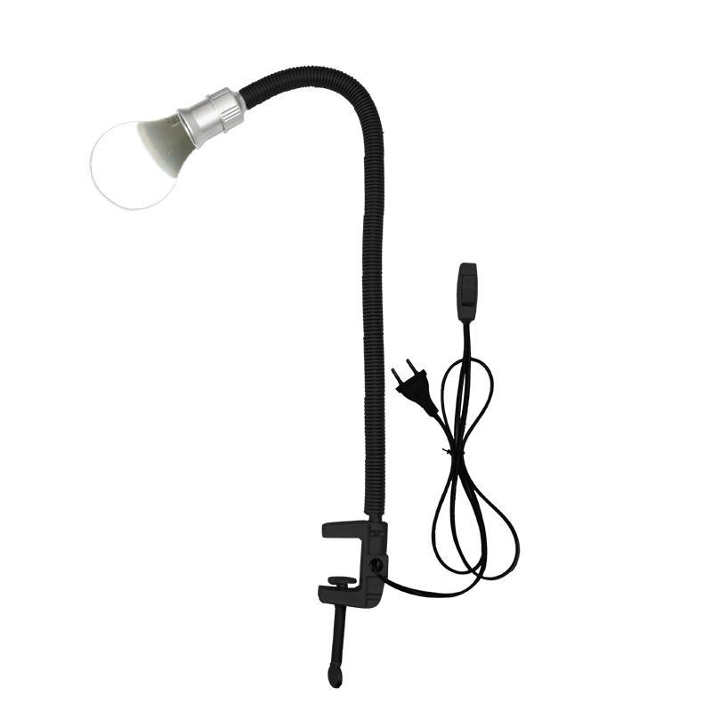 EELIC ELC-J003 HITAM LAMPU MEJA FLEXIBLE JEPIT LAMPU JEPIT LAMPU ELASTIS BAHAN STAINLESS STEEL + 1 PCS LAMPU LED (LAU-SL12W) 12 WATT